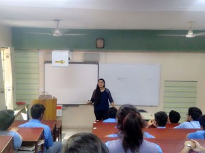 A Session on Mindfulness and Stress at Vivek High School, Chandigarh